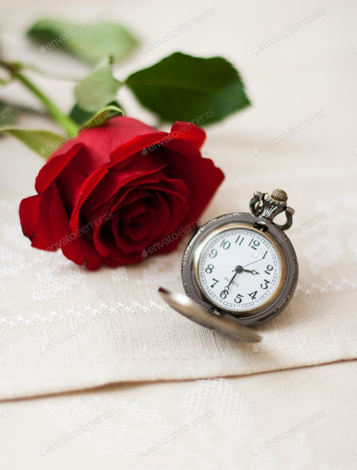 Pocket Watches and Rose
