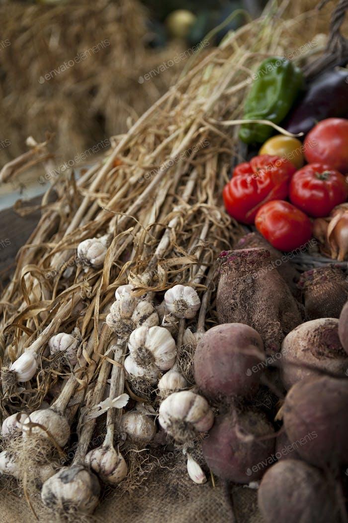 Vegetable on a market