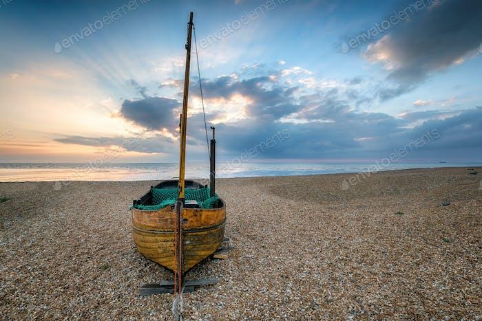 Sailing Boat on a Beach