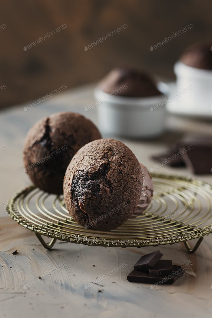 Sweet muffins with chocolate