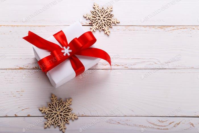 Weihnachten weiße Geschenkbox