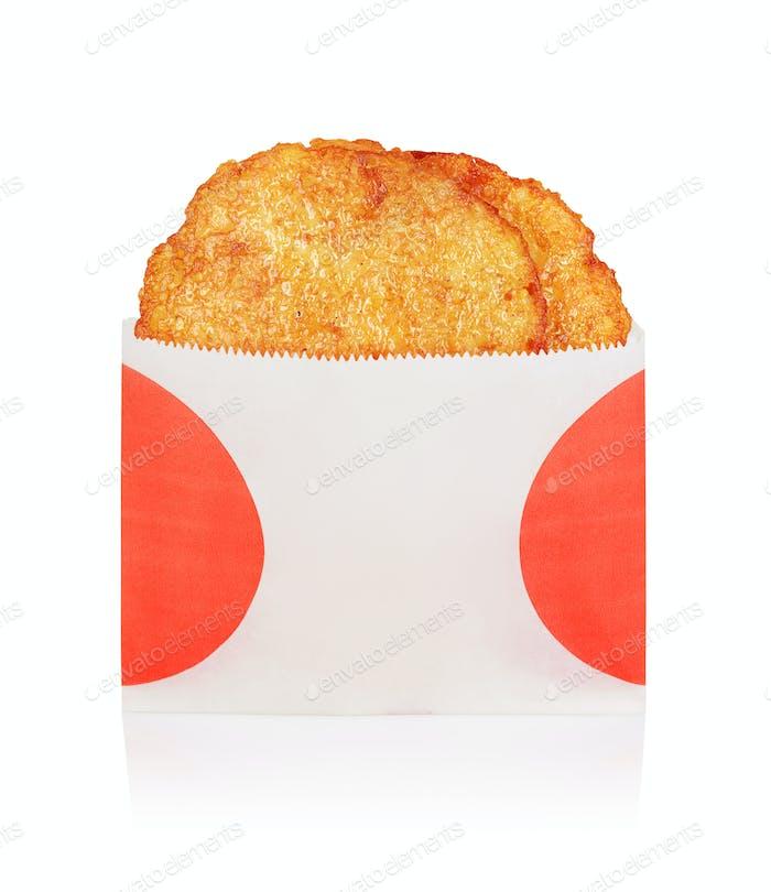 Potato pancakes isolated
