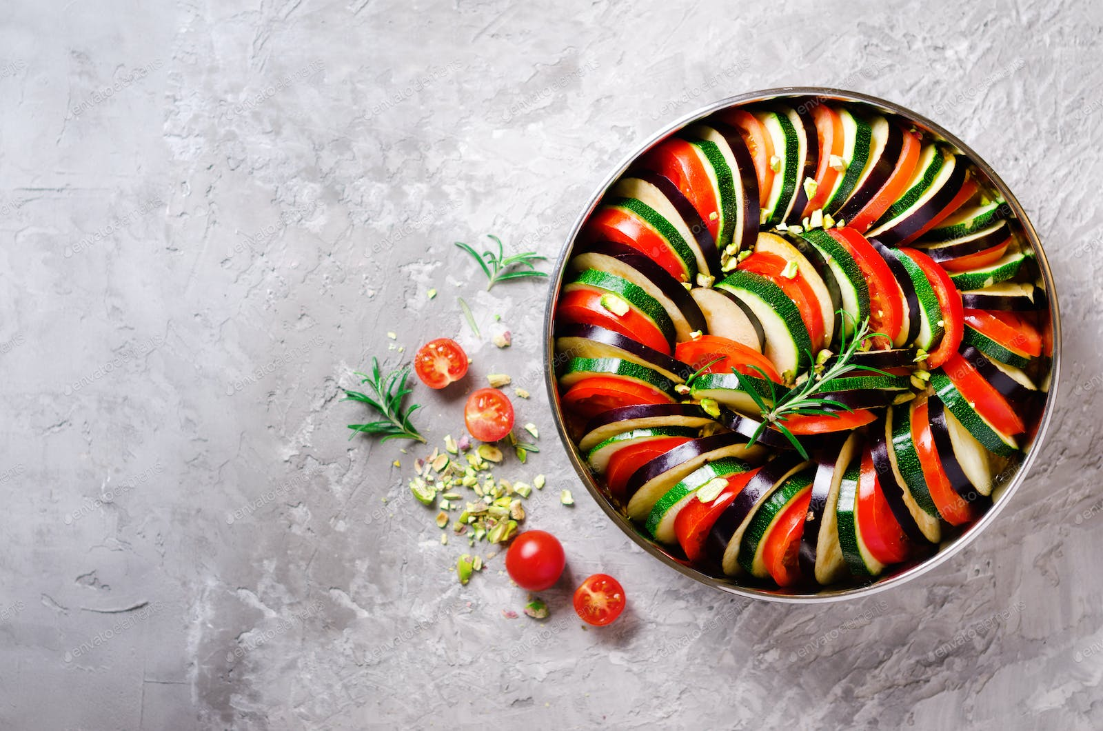 Ratatouille Traditional Homemade Vegetable Dish Vegetarian Vegan Food Copy Space Banner Photo By Jchizhe On Envato Elements