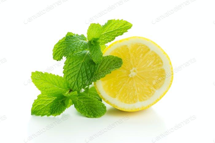 Lemon with mint