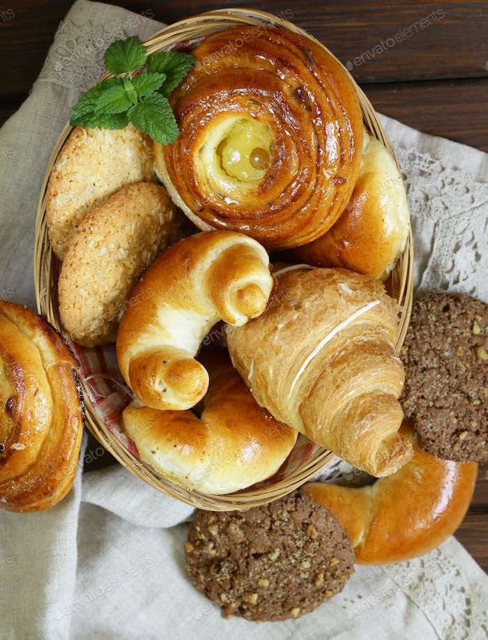 Homemade Baked Buns Brioche
