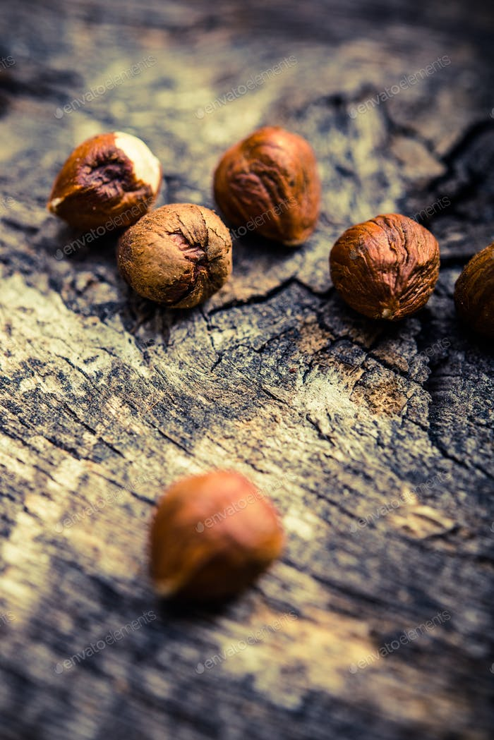 Raw Nuts on the Wood