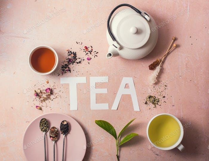 Tea Concept, Various Tea, Teapot