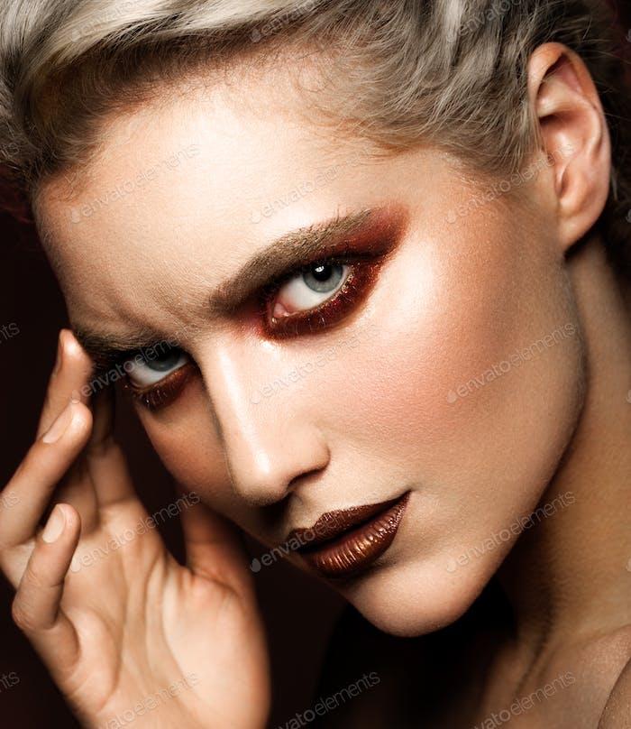 sensual glamour portrait of beautiful woman model lady