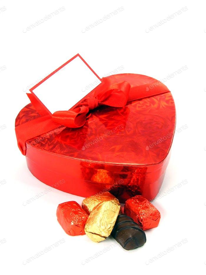 Love Heart Box and Chocolates