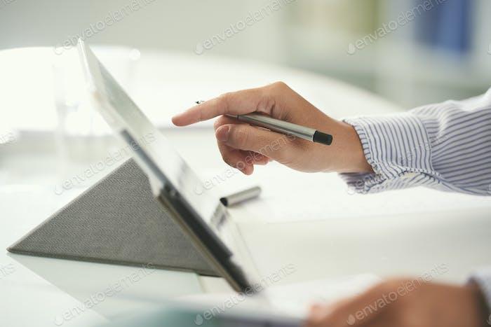 Verwenden von digitalen Tablet-PCs