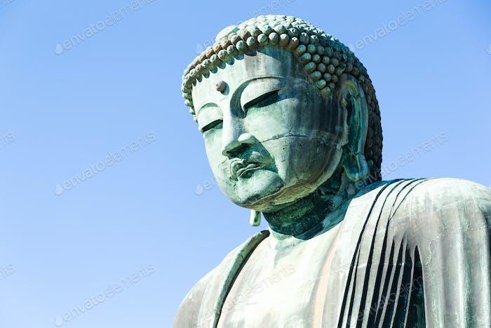 Große Buddha Bronzestatue in Japan