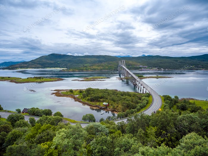 Tjeldsundbrua bridge in Norway