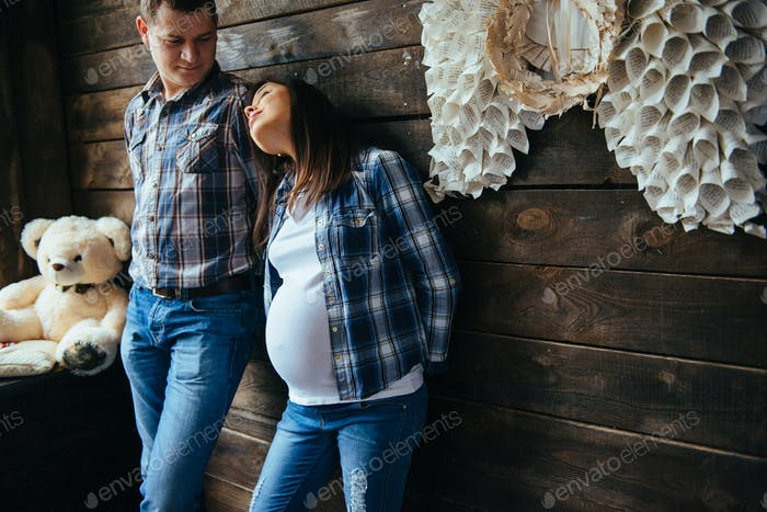 family waiting for baby