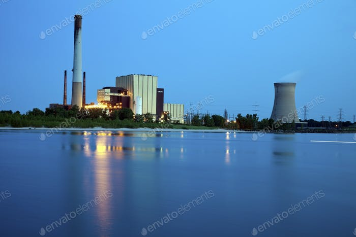 Industrial area in Michigan City