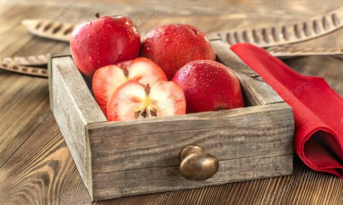 Äpfel mit rotem Fleisch
