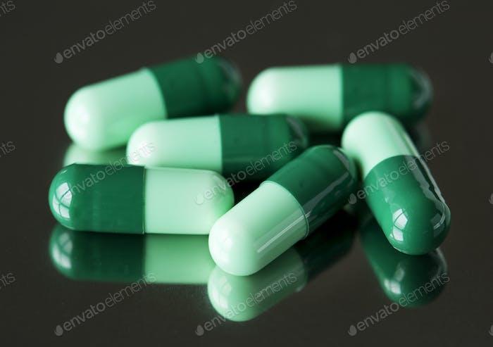 Primer plano de los medicamentos