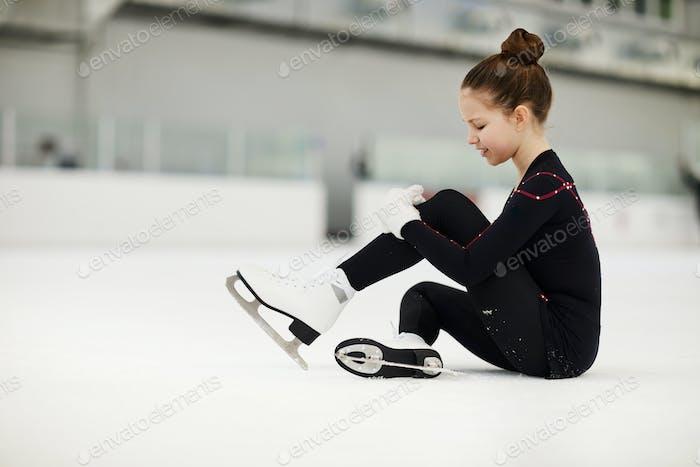 Injured Girl on Ice Rink