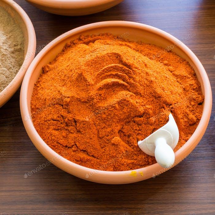 Paprika in Bowl