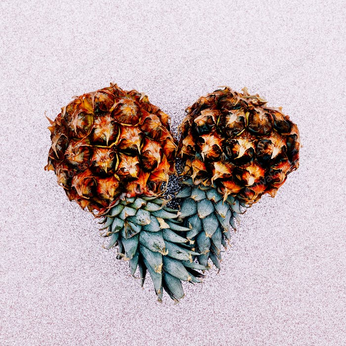 Two mini pineapple. Fashion Art design