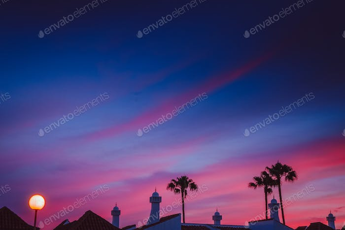 Beautiful sunset in Maspalomas