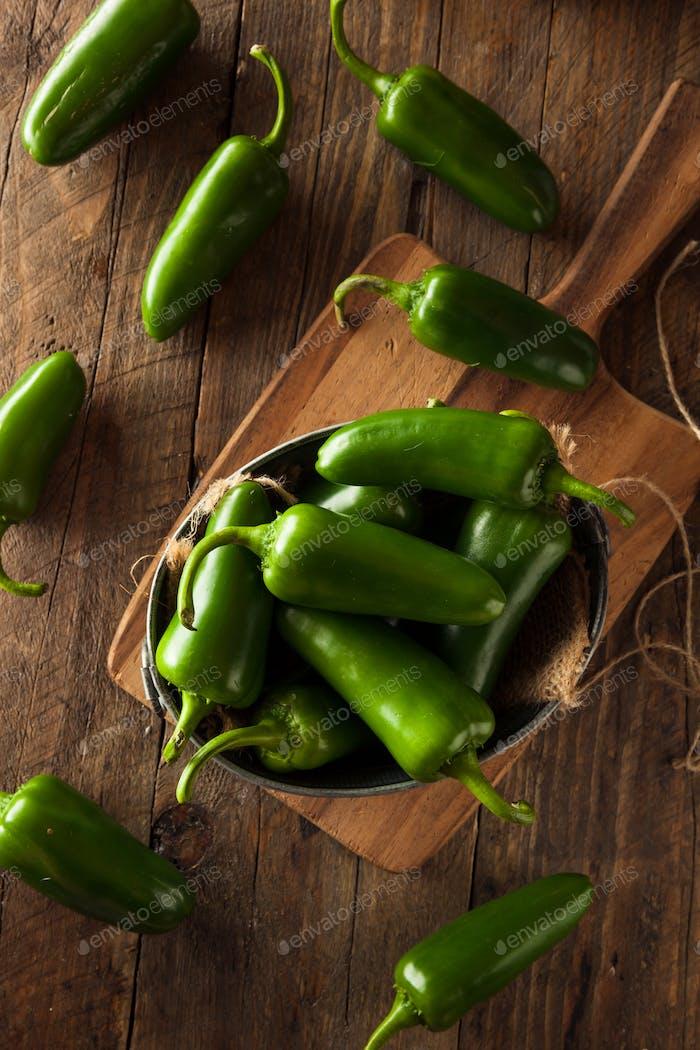 Bio grüne Jalapeno Paprika