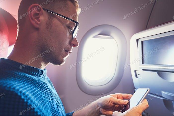 Conexión en el avión