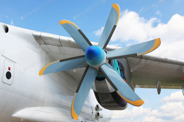 Turboprop jet engine