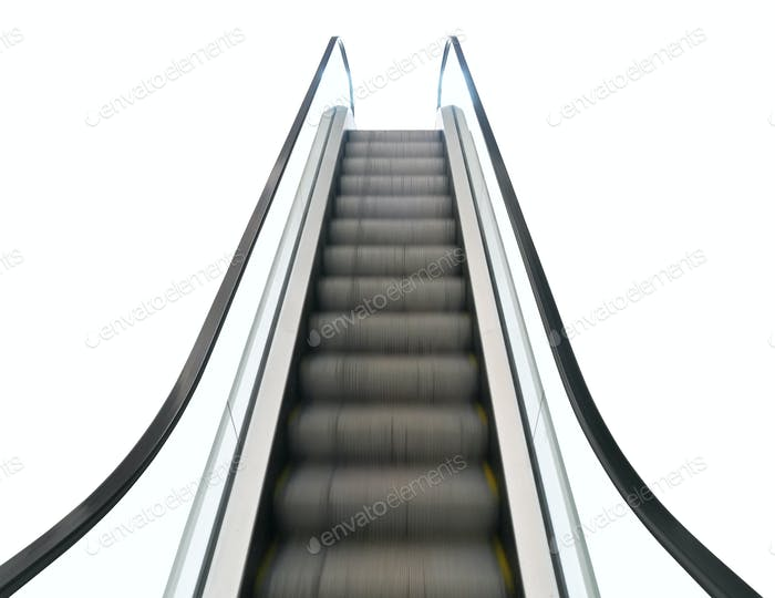 Outdoor Escalator Isolated