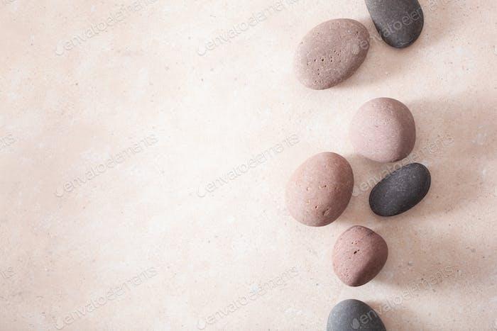 spa stones flat lay massage relax treatment