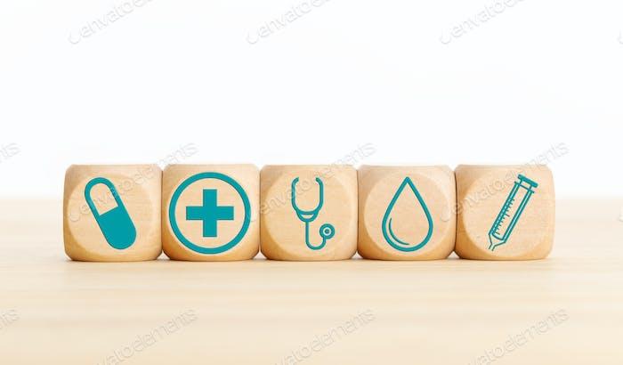 Concepto de cuidado de la salud o medicina