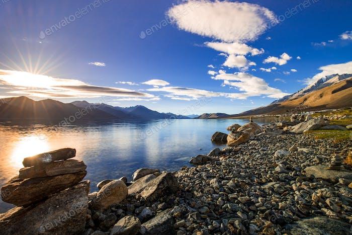 Pangong tso Lake, Ladakh, Jammu and Kashmir, India
