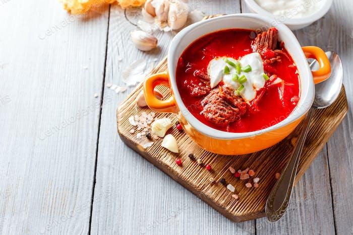 Borsch, beetroot soup