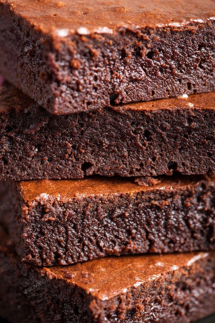closeup of brownies