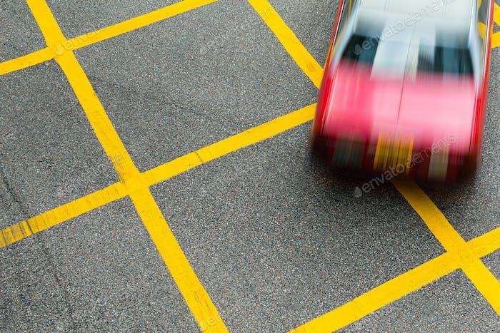 Hong Kong taxi in road