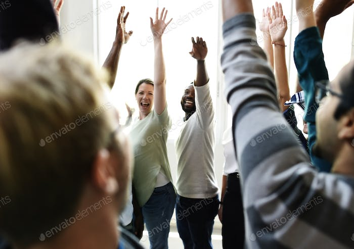 Startup Business People Teamwork Cooperation Hands Up Agreement