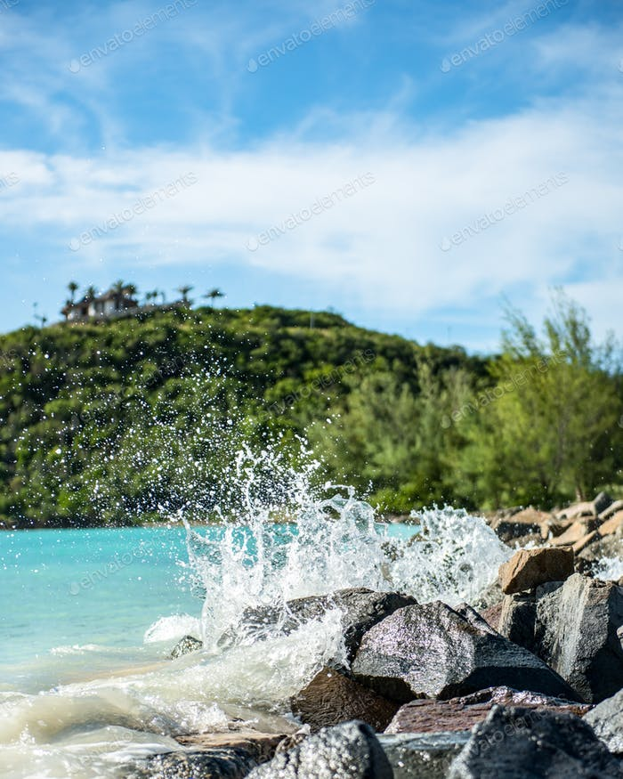 water splash in Antigua