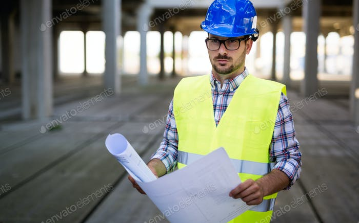 Construction foreman on the job site