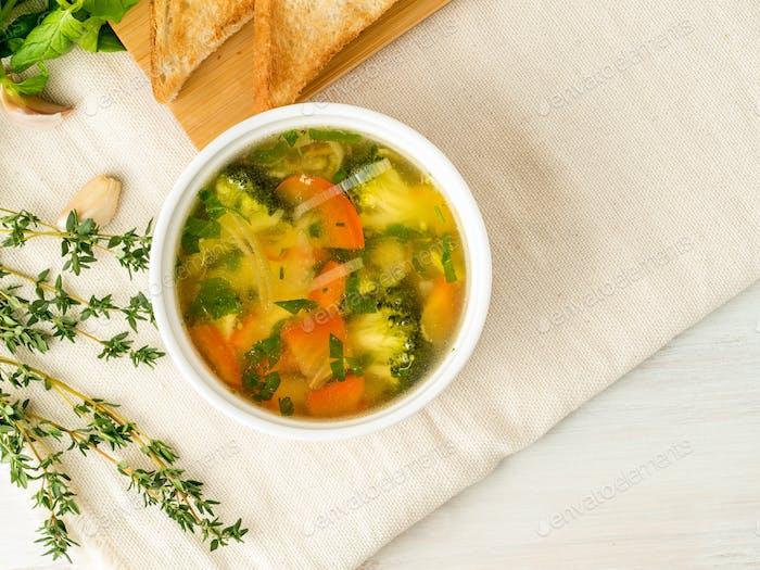 Köstliche dicke Suppe