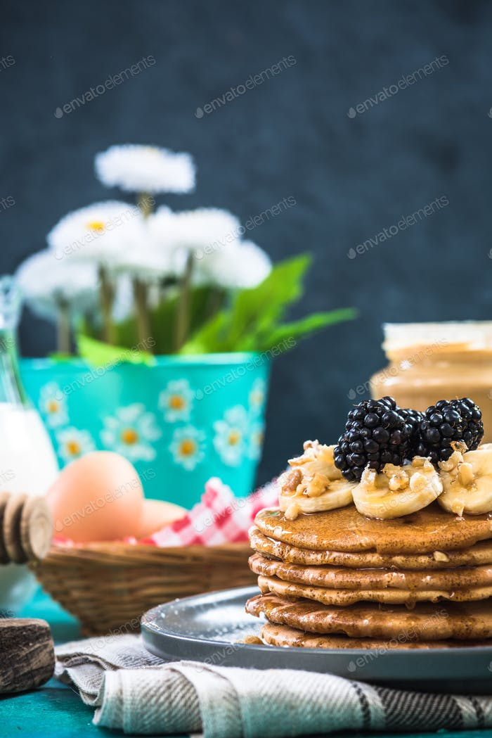 Serving perfect pancakes for spring brunch