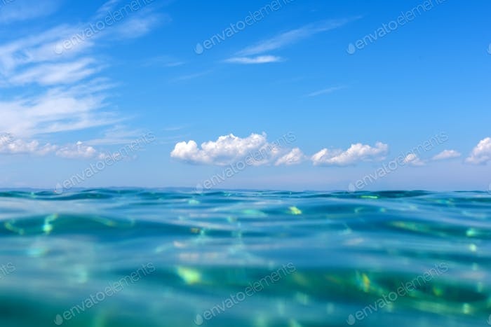 Summer time under the sea ocean water