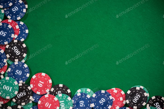 Poker and casino border background