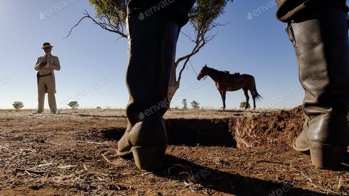 Cowboy Standoff low shot