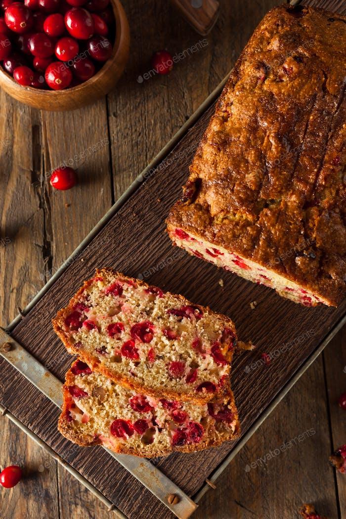 Hot Homemade Cranberry Bread