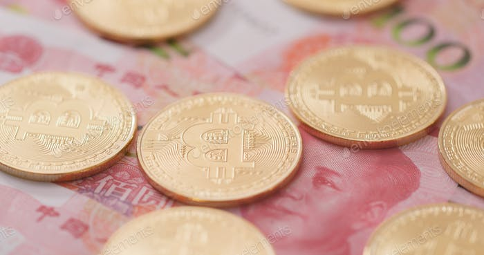 Bitcoin on RMB, Chinese banknote