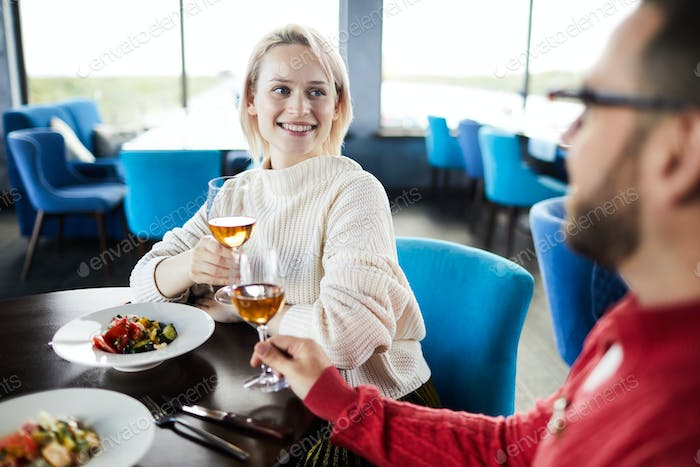 Happy Woman On Romantic Date