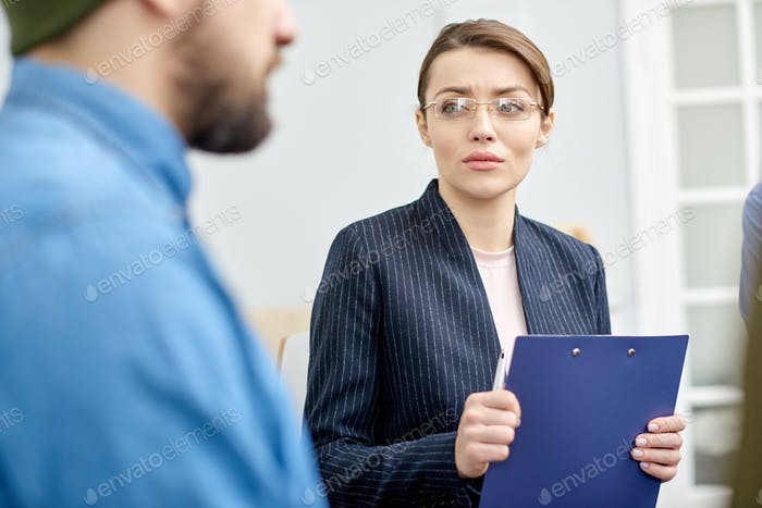 Attractive Psychologist Working with Patient