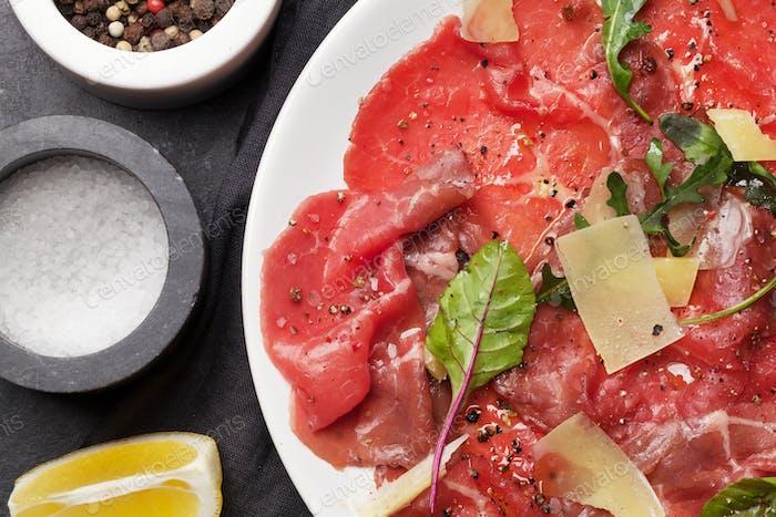 Marbled beef carpaccio
