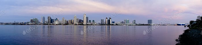 San Diego Wide Panoramic View Coronado Island Pacific Ocean bay