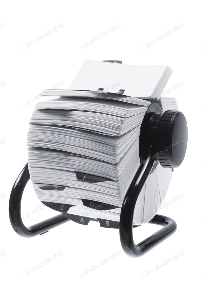 Rotary Card Index