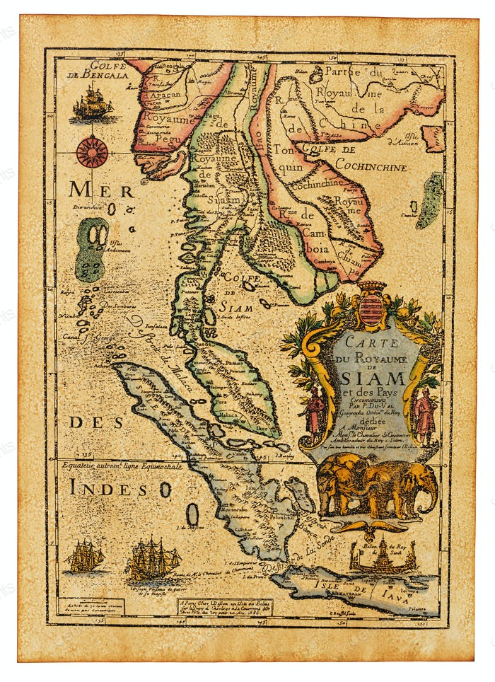 Antique Thailand map